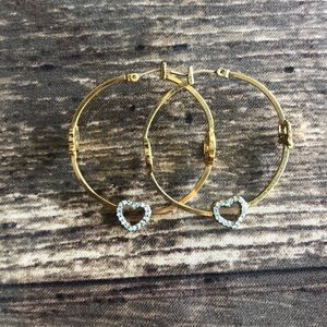 Juicy Couture Heart Hoops